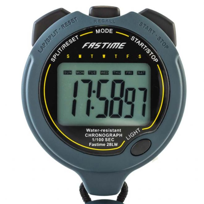 Fastime 28LW Stopwatch (15mm Digits) - Backlight & IPX7 Water Resistant